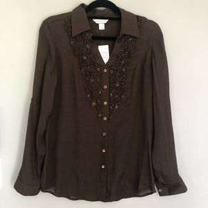 NWT CHRISTOPHER & BANKS BUTTON DOWN